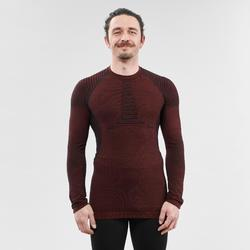 Camiseta interior térmica Nieve Esquí Wed'ze 900 X-Warm Hombre Burdeos