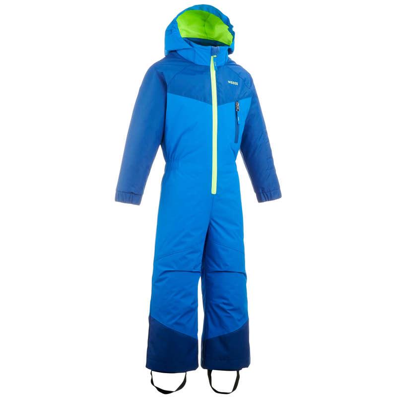 KID BEGINNER ON PISTE SKIING CLOTHS Outdoor Activities - KIDS' D-SKI SUIT 100 - BLUE WEDZE - Outdoor Activities
