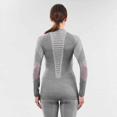 Women's Ski Base Layer Top 900 X-Warm - Grey