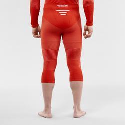 Skithermobroek voor heren 900 rood