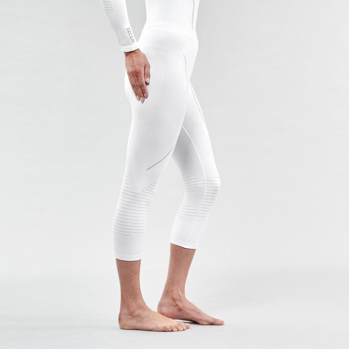 Thermische skionderbroek voor dames 900 wit