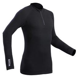 Thermoshirt voor skiën heren 900 wol zwart