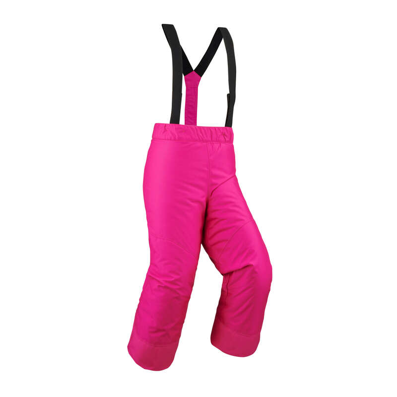 KID'S JACKETS OR PANTS OCCASIONAL SKIERS Skiing - KIDS' P-SKI PANT 100 - PINK WEDZE - Ski Wear