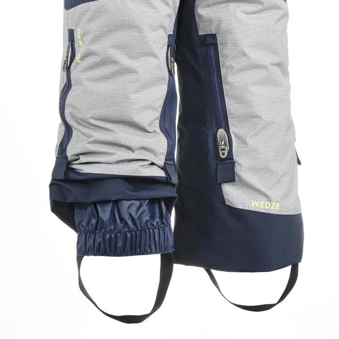 Schneeanzug Skianzug Comb 500 Kinder grau/gelb