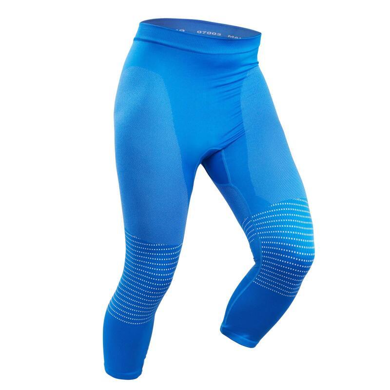Men's Base Layer Ski Bottoms - Blue