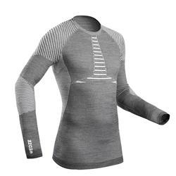 Wollen thermoshirt voor skiën heren 900 X-Warm grijs