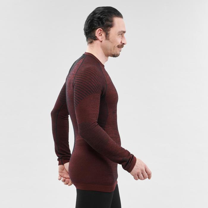 Camiseta térmica de Esquí Hombre 900 X-Warm Burdeos