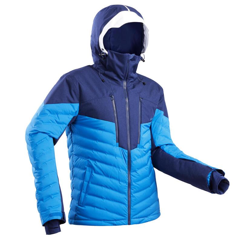 Men's Warm Padded Ski Jacket 900 Blue