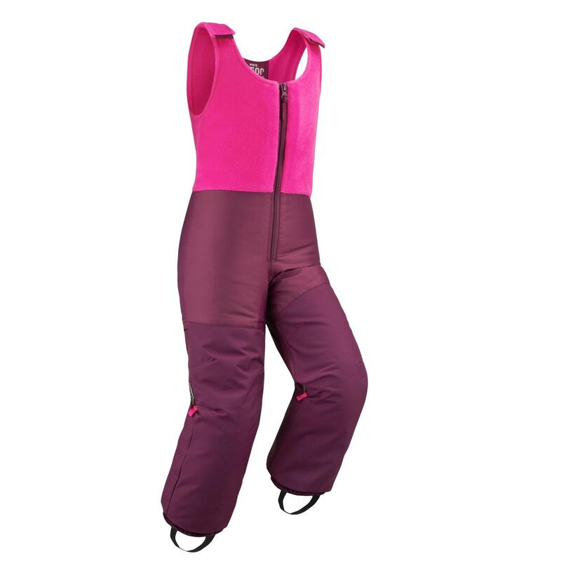 Children's Skiing Salopettes - Pink and Plum