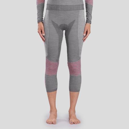 Women's Ski base layer bottoms 900 X-Warm - Grey