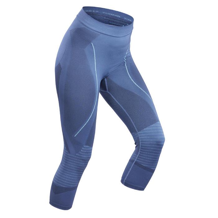 Skithermobroek voor dames 900 blauw