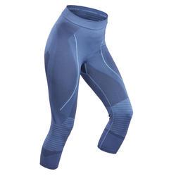 Pantaloni termici sci donna 900 blu