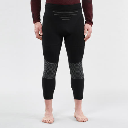 Men's base layer ski bottoms 900 X-Warm - Black