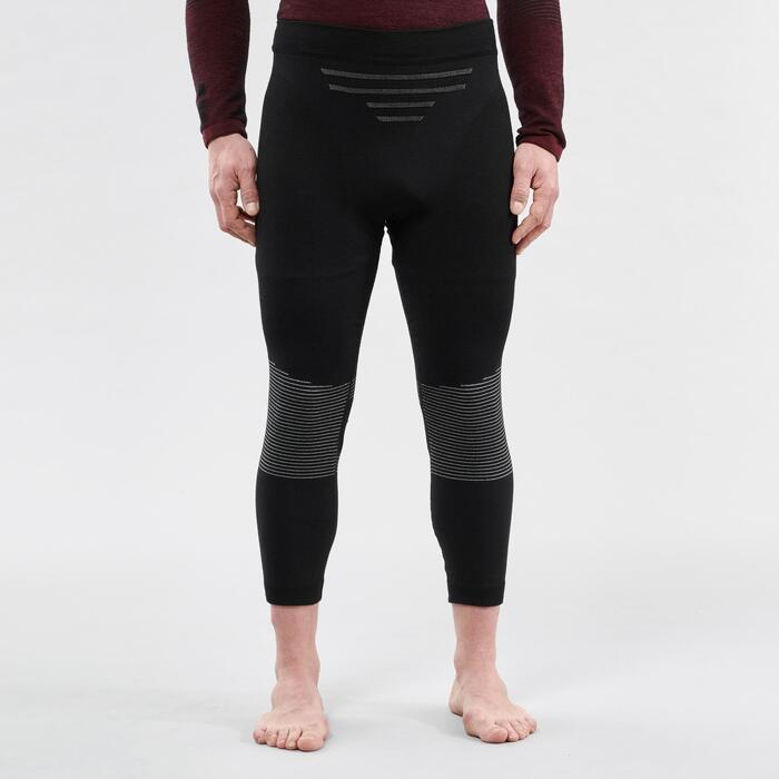 Thermobroek voor skiën heren 900 wol zwart
