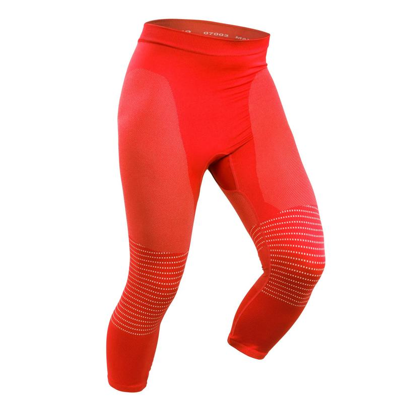 Men's base layer ski bottoms 900 - Red