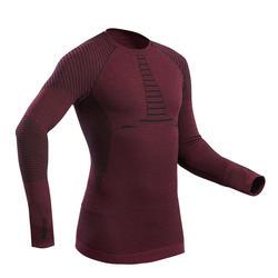 Thermoshirt voor skiën voor heren 900 X-Warm bordeauxrood
