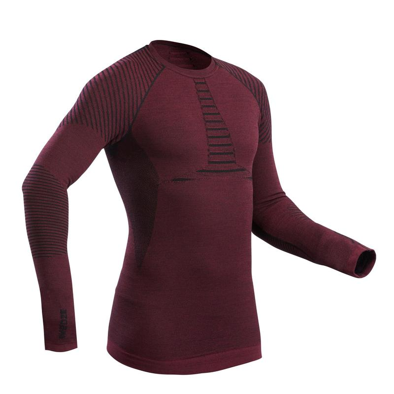 Men's Ski Base Layer Top 900 X-Warm - Burgundy