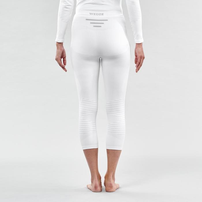 Pantalón térmico esquí y nieve interior wed'ze 900 mujer blanco