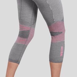 Sous-vêtement de ski femme 900 laine bas gris/rose