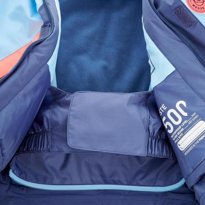 CHILDREN'S SKI SUIT PNF 500 - SKY AND CORAL