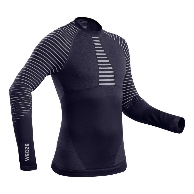 MEN SKI BASELAYER & PULL Skiing - M Base Layer Top 900 - Nvy Blu WEDZE - Ski Wear