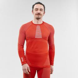 Camiseta térmica esquí NIEVE interior WED'ZE 900 hombre Rojo