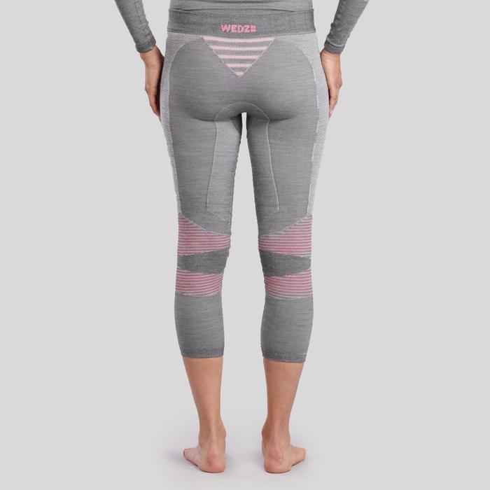 Pantalon Termico De Esqui Y Nieve Interior Mujer Wedze Ski 900 Gris Wedze Decathlon