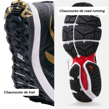 trail vs road running