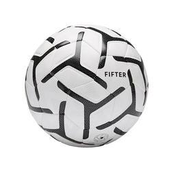 Balón de Fútbol 5 Fifter Society 500 talla 5 blanco negro