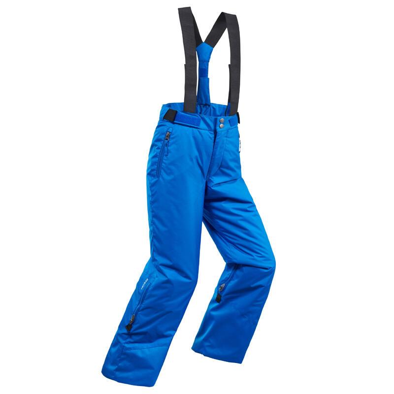 Warme en waterdichte skibroek voor kinderen PNF 500 blauw
