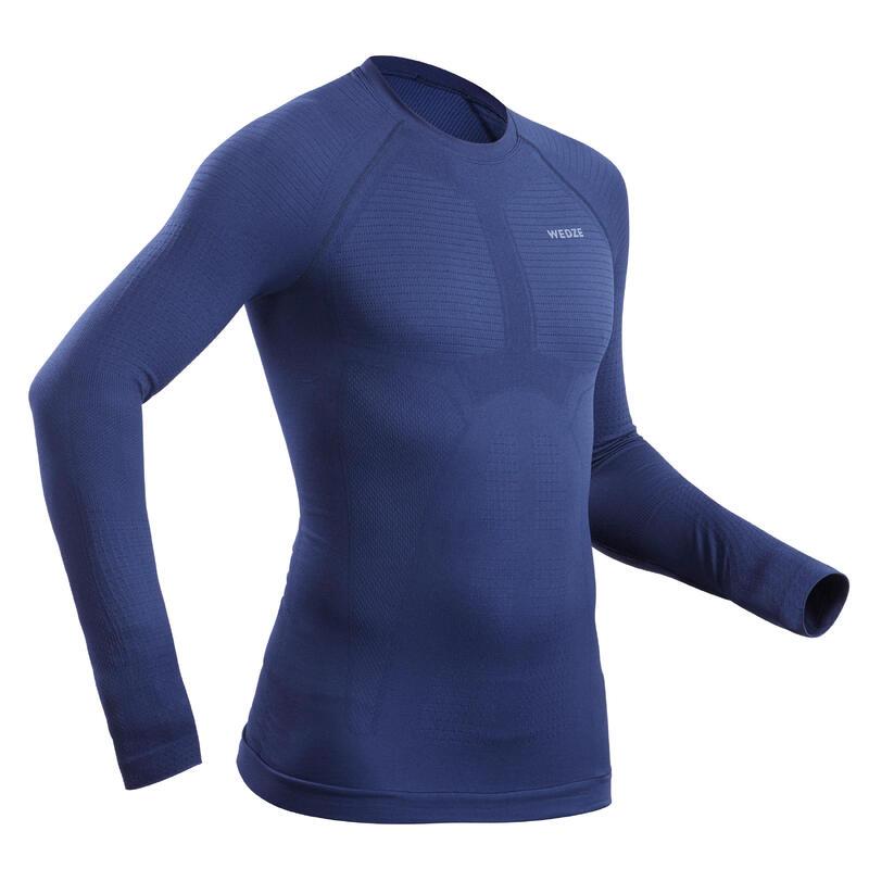 Camiseta Térmica de Esquí y Nieve Interior Hombre Wedze Ski 580 Azul