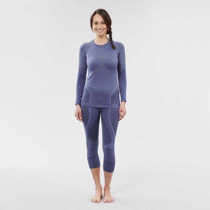 Skiondershirt voor dames 900 blauw