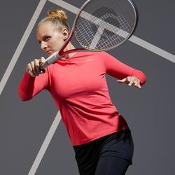 Tennisshirt met lange mouwen voor dames Essentiel roze