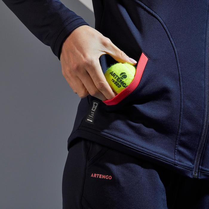 Thermo tennisjas voor dames TH 500 marineblauw