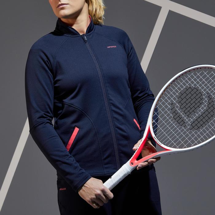 Tennisjacke Trainingsjacke JK TH 500 Damen marineblau