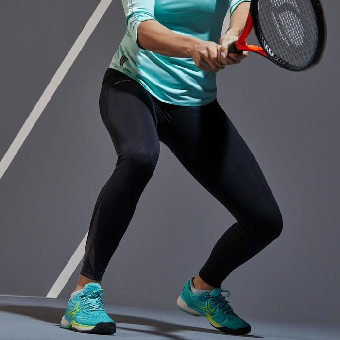 女款網球緊身褲LEG TH900-黑色