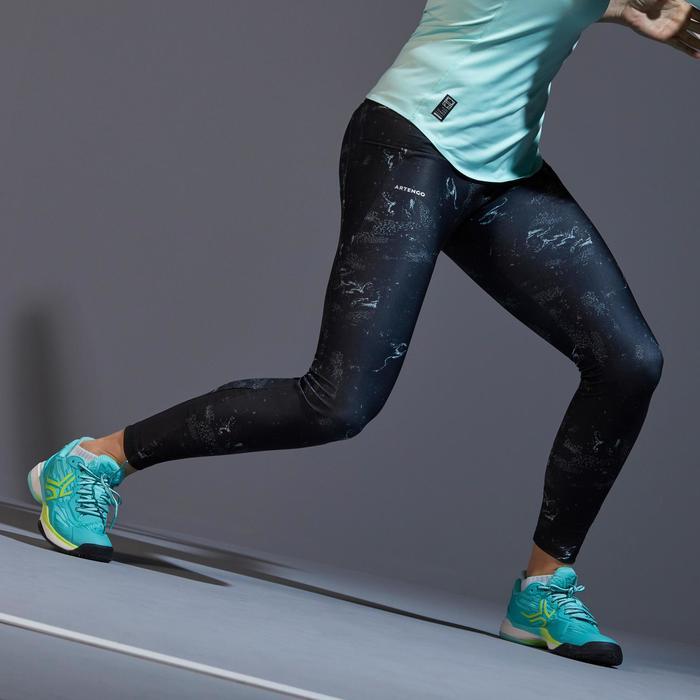 Tennis legging voor dames 900 Zwart/groen