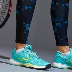 Tennis legging voor dames 900 Camouflage blauw