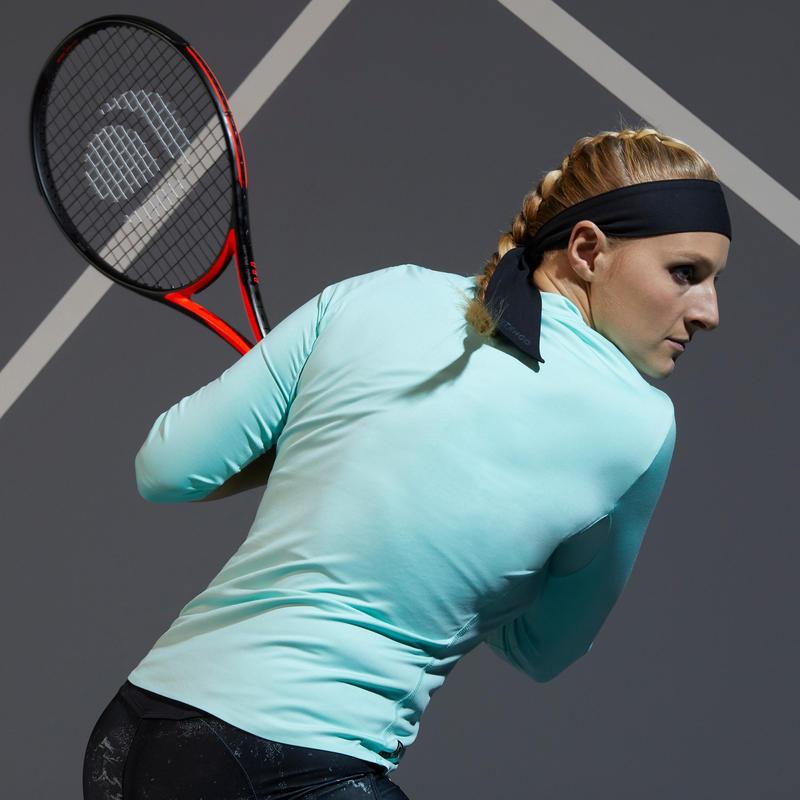 เสื้อเทนนิสผู้หญิงแขน 3/4 ส่วนรุ่น Dry 900 (สีมินต์)