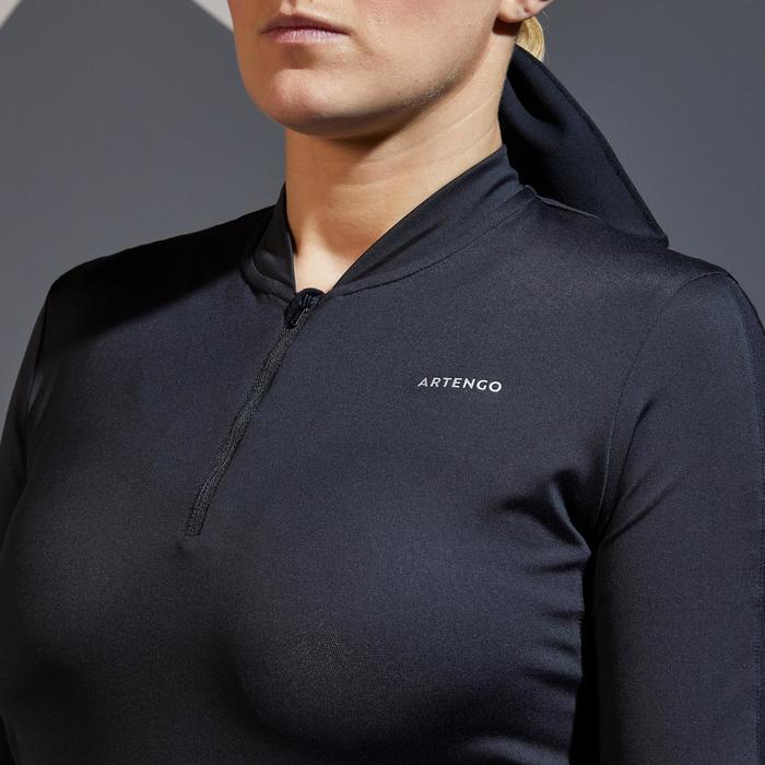 Tennistop TS Dry 900 3/4-Ärmel Damen schwarz