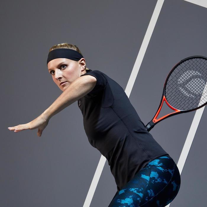 Tennisshirt met driekwartmouwen voor dames 900 Dry zwart