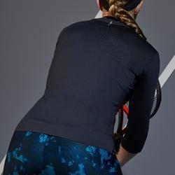 T SHIRT DE TENNIS FEMME MANCHE 3/4 TS DRY 900 NOIR