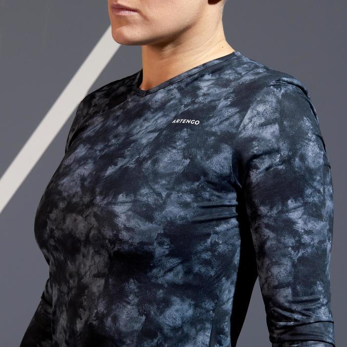 Women's Tennis Long-Sleeved T-Shirt - Black Graphics