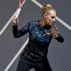 Women's Tennis Long-Sleeved T-Shirt - Black Graphics