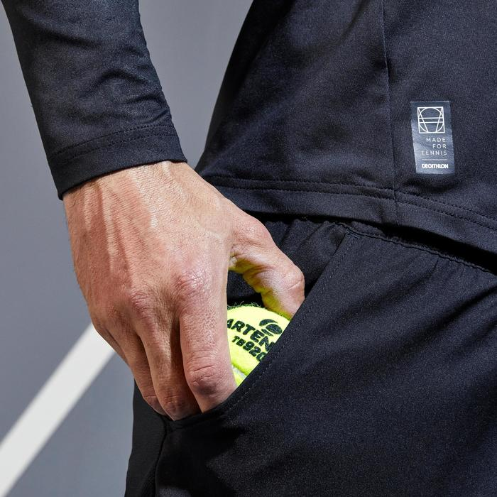 Tennisshort voor heren 500 zwart