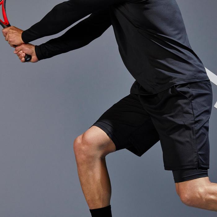 Tennisshorts TSH500 TH Herren schwarz