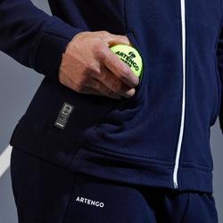 Tennisvest voor heren TJA500 marineblauw/wit