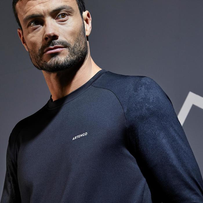 Tennisshirt voor heren TTS500 zwart