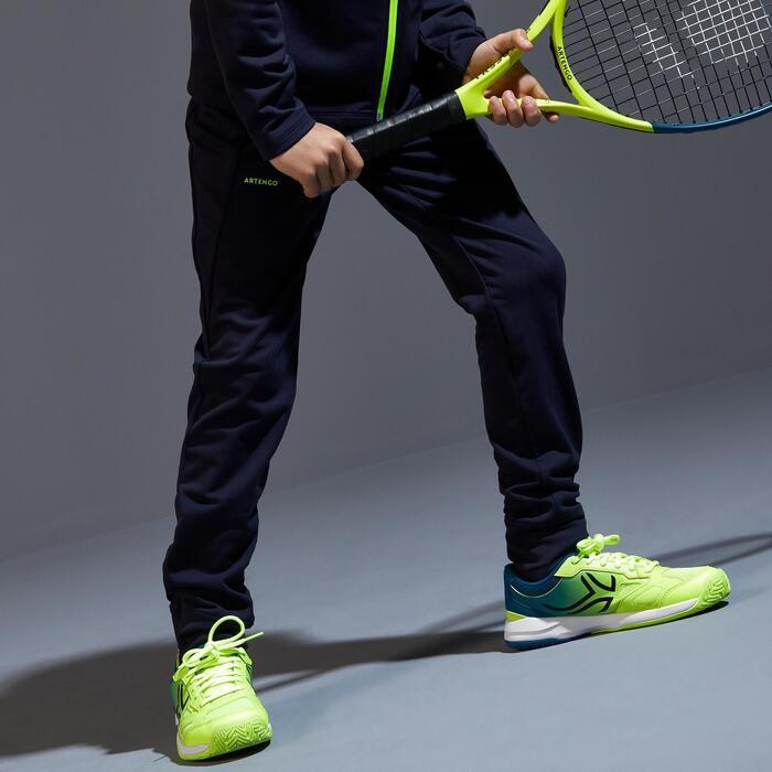 Thermische tennisbroek voor jongens blauw/zwart
