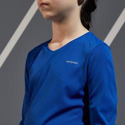 500 Girls' Thermal T-Shirt - Indigo